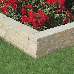 Bordure De Jardin Leroy Merlin : bloc muret cevennes 50x11x10cm leroy merlin ~ Melissatoandfro.com Idées de Décoration