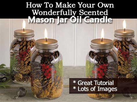 wonderfully scented mason jar oil candle