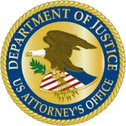 united states department of justice plaque copshop