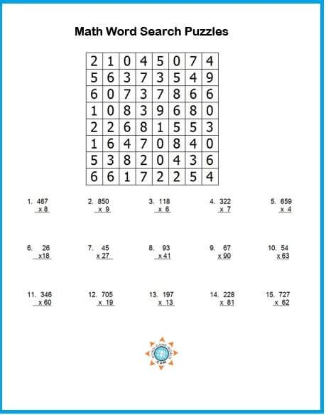 try a math word search puzzle