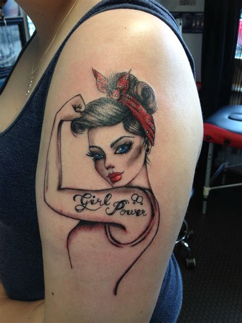 Pinup Girl Tattoo #girlpower  Medizin  Pinterest Girl