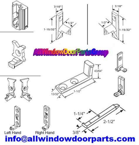 sash pivot pin parts double single hung tilt tilting window sashes truth window hardware