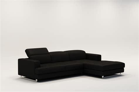 canapé en cuir design deco in canape d angle design en cuir noir cris