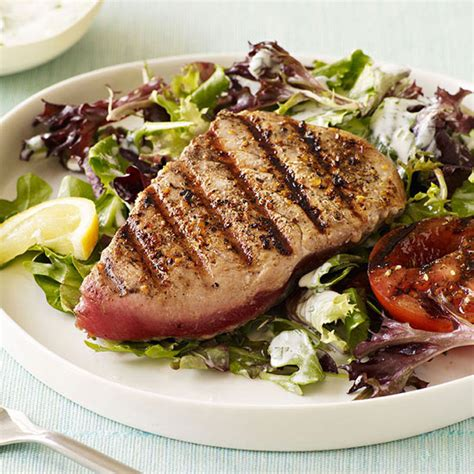 grilled tuna grilled tuna salad with garden dressing family circle