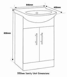 550 mm Size Bathroom Vanity Furniture Unit Cabinet With