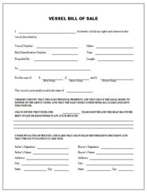 boat trailer bill  sale form