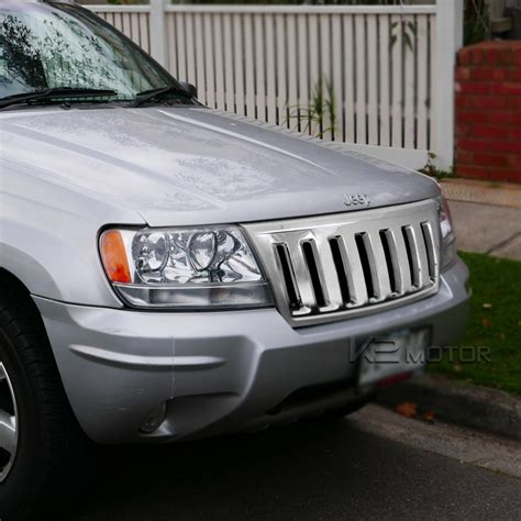 jeep grand cherokee front grill 99 04 jeep grand cherokee vertical front grilles chrome