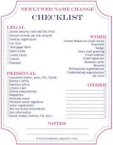 printable wedding checklist timeline best 25 name change checklist ideas on name change marriage name change and