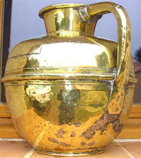canne  lait spherique laiton cuivre jaune martele pot anse travail normand xixe ebay