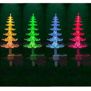 solar powered colour changing tree lights cone garden sx1 ebay
