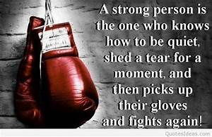 Strong quotes w... Fight Boxing Quotes