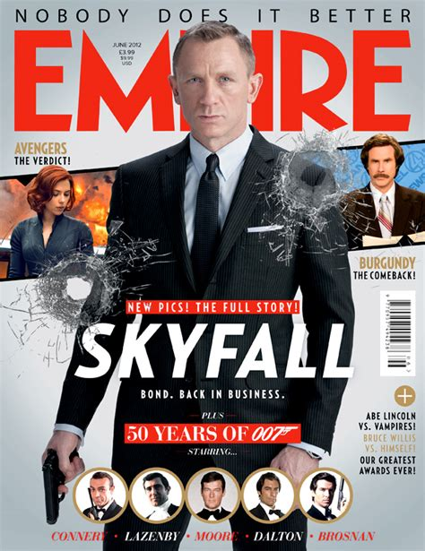 Resume 007 Skyfall by Skyfall Empire Magazine Covers With Daniel Craig