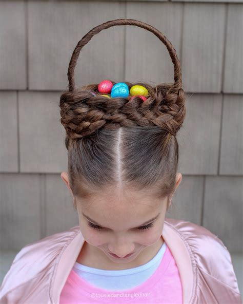 Top 15+ epic easter & spring hairstyles (2021) haircuts and styles for spring. Easter Basket Hairstyle 🐣 (With images) | Easter ...
