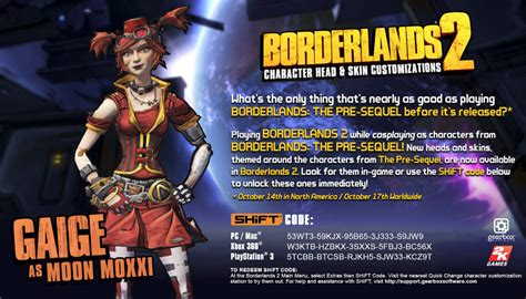 77267 Moon Guide Discount Code by Steam Community Guide Borderlands 2 Pre Sequel Shift