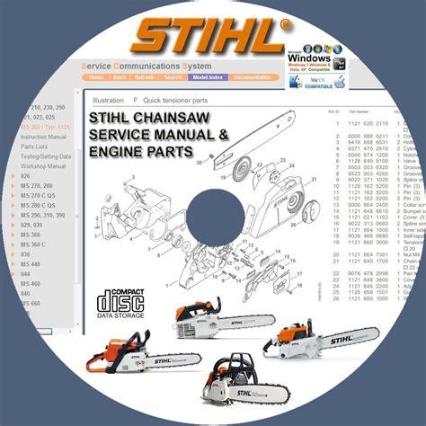 stihl chainsaw ms ms  ec service repair