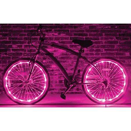 bike wheel lights walmart brightz ltd pink wheel brightz led bicycle light
