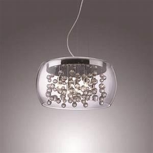 Grand Lustre Design : lustre 5 lampes design ideal lux audi 80 chrome acier ~ Melissatoandfro.com Idées de Décoration
