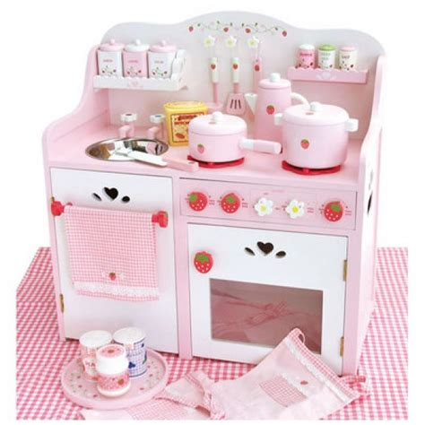 playpink cuisine houten keukentje aardbeien aanbiedingen