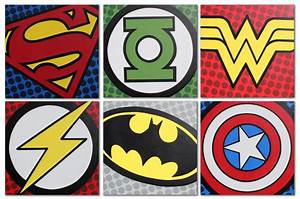 Superhero Logos | Superhero Birthday Party | Pinterest