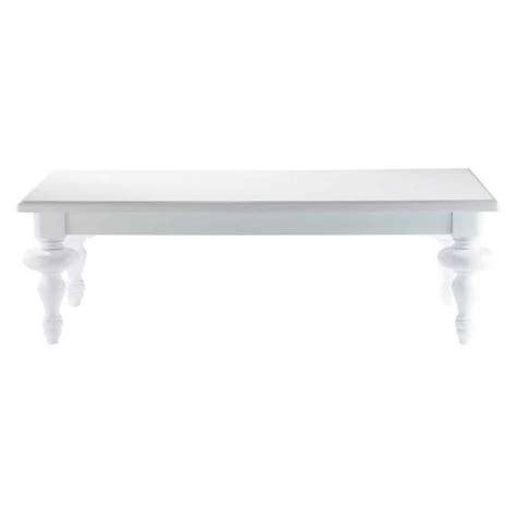 table basse blanche barocco maisons du monde