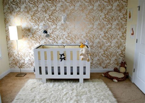 Bold Metallic Nursery Wallpaper Pictures, Photos, And