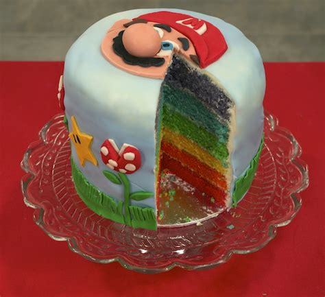 fashion cooking rainbow cake mario bros