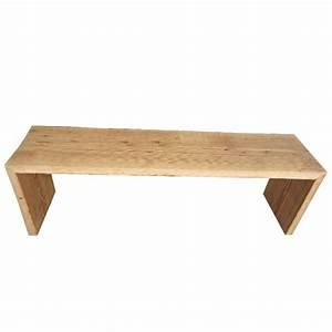 Pied De Lit En Bois : banc ou bout de lit chantignolle grand en vieux bois ~ Premium-room.com Idées de Décoration