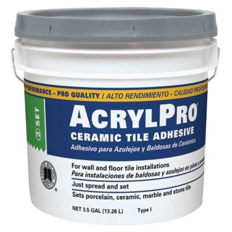 mastic tile adhesive time custom building products acrylpro 3 1 2 gal ceramic tile