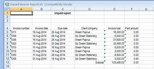 How To Create An Invoice In Excel How Do I Export My Invoice Information Handdy Invoices