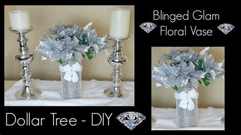 Diy Dollar Tree Christmas Bling Vase  Glam Home Decor
