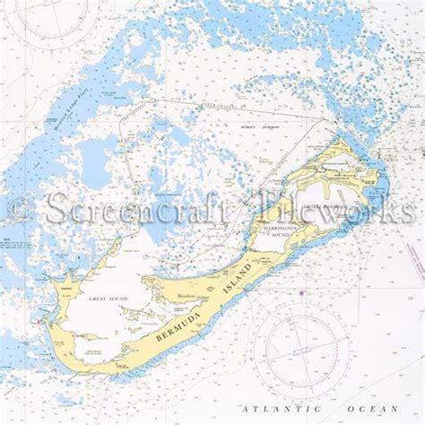 vintage utility islands bermuda island hamilton nautical chart decor