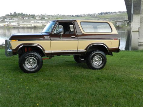 ford bronco suv  brown  cream  sale  ford