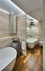 Bois Pour Salle De Bain : un sol imitation bois pour relooker sa salle de bain ~ Melissatoandfro.com Idées de Décoration
