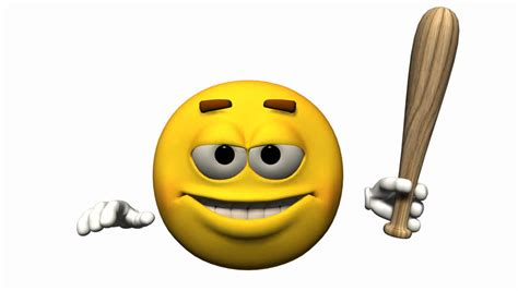 Smile Wallpapers Animation - animated 3d emoticon character expressing anger on a