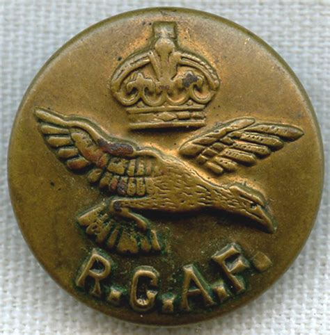 large wwii royal canadian air force rcaf uniform button