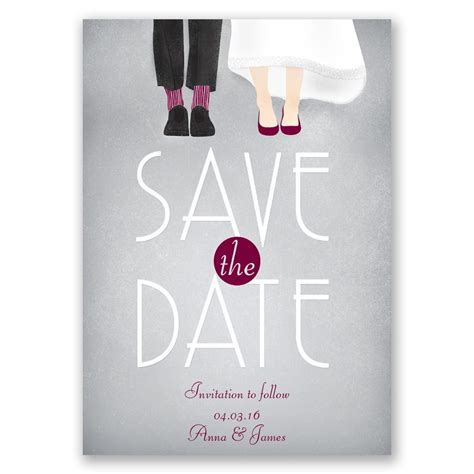 dancing shoes    save  date card