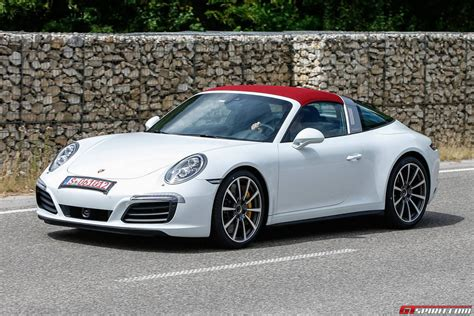 Fully Undisguised Porsche 911 Targa Facelift Spy Shots
