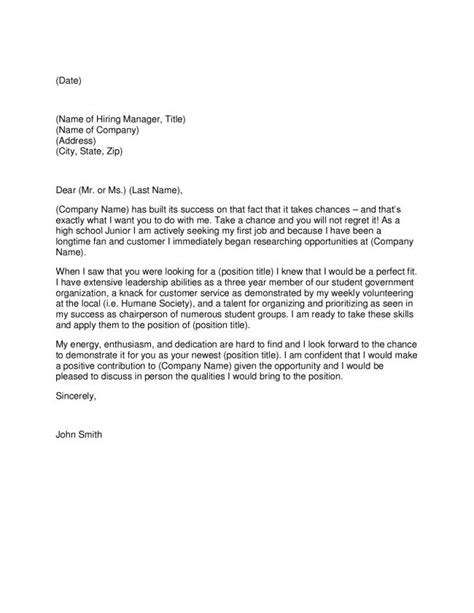 14380 cover letter for high school student with no experience high school student cover letter let s handle business