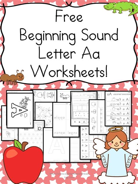 Free Beginning Sounds Letter 'a' Worksheets  Homeschool Printables For Free