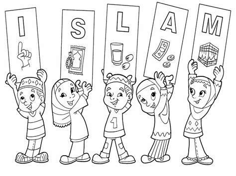 Gambar dan mewarnai islami drawing islamic art calligraphy. 43 Gambar Mewarnai Islami