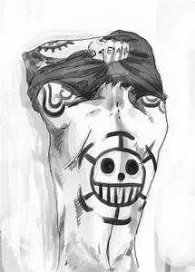 Trafalgar Law - One Piece. I'm not usually a fan of tattoo ...