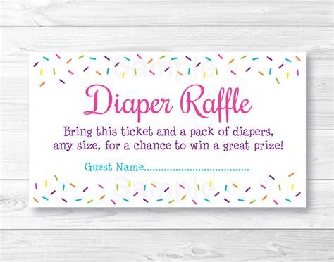 Pink Baby Sprinkle Printable Baby Shower Diaper Raffle