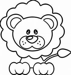 Calm Lion Coloring Page | Wecoloringpage
