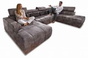 Wohnlandschaft Mit Relaxfunktion : wohnlandschaft brandon mit sitzverstellung grau sofas zum halben preis ~ Indierocktalk.com Haus und Dekorationen