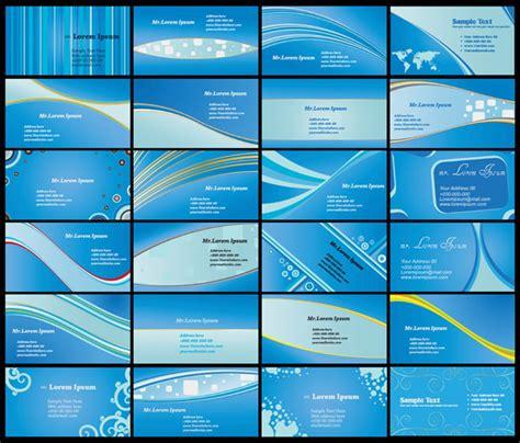 blue business cards vectors   vectors