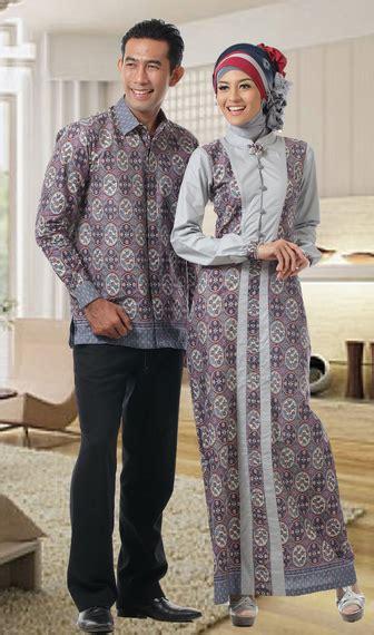 27 baju batik muslim untuk pria dan wanita paling
