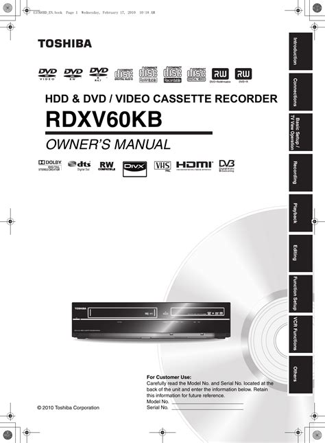 toshiba rdxv users manual