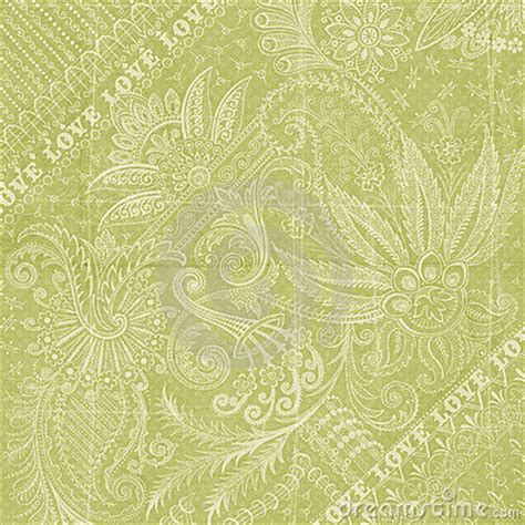 green floral love background scrapbook paper royalty