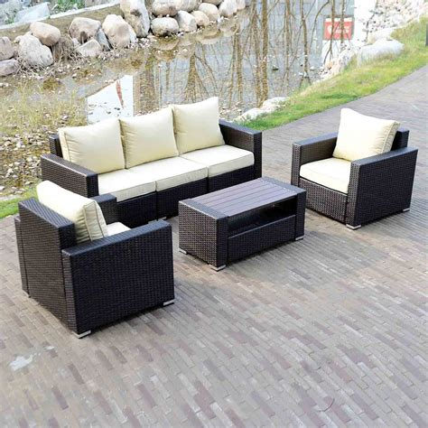 Decor Sofa Set by Walcut 6 Wicker Sofa Set Outdoor Furniture