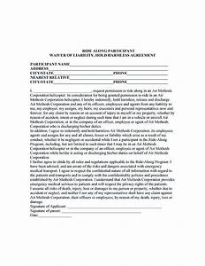 making hold harmless agreement template for different purposes With hold harmless waiver template